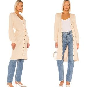 LPA Russo Duster Belted Waist Button Front Oatmeal